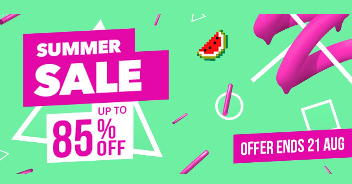 PS Store SUMMER SALE ลดสูงสุด 85% ถึงวันที่ 21 สิงหานี้