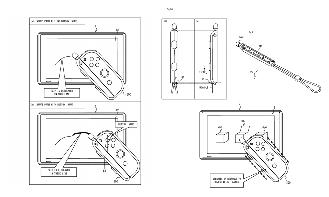 หลุดจอยคอนใหม่ของ Nintendo Switch ที่มีปากกาสไตลัสในเว็บสิทธิบัตรของอเมริกา
