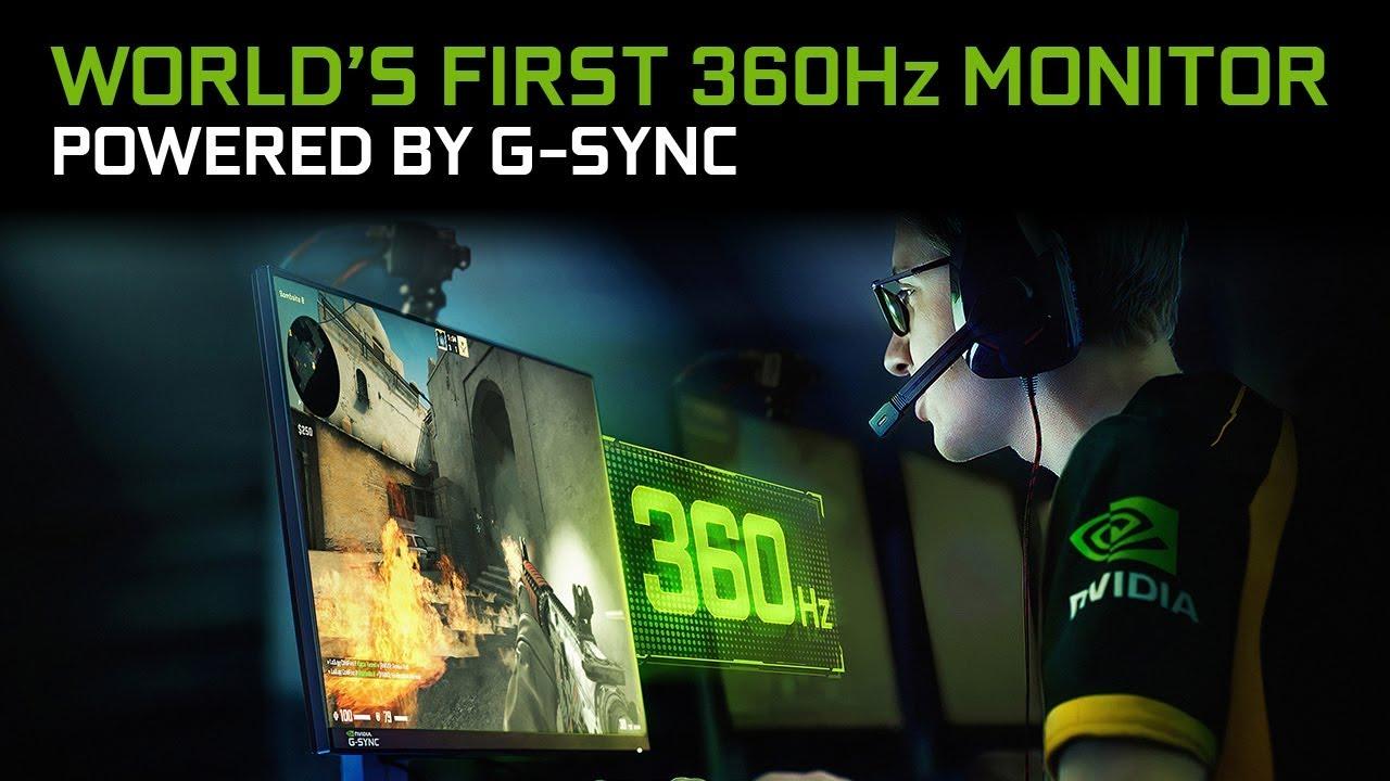 ตามนุษย์มองเห็นได้แค่ 60FP… NVIDIA เปิดตัวจอเทพ 360Hz !